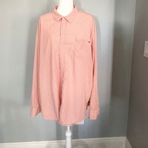 Tommy Bahama Pink Striped Blouse, size 3XL/3TG